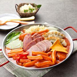 Mì tteok-bokki Ham & Xúc xích