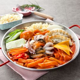 Mì tteok-bokki phô mai hải sản