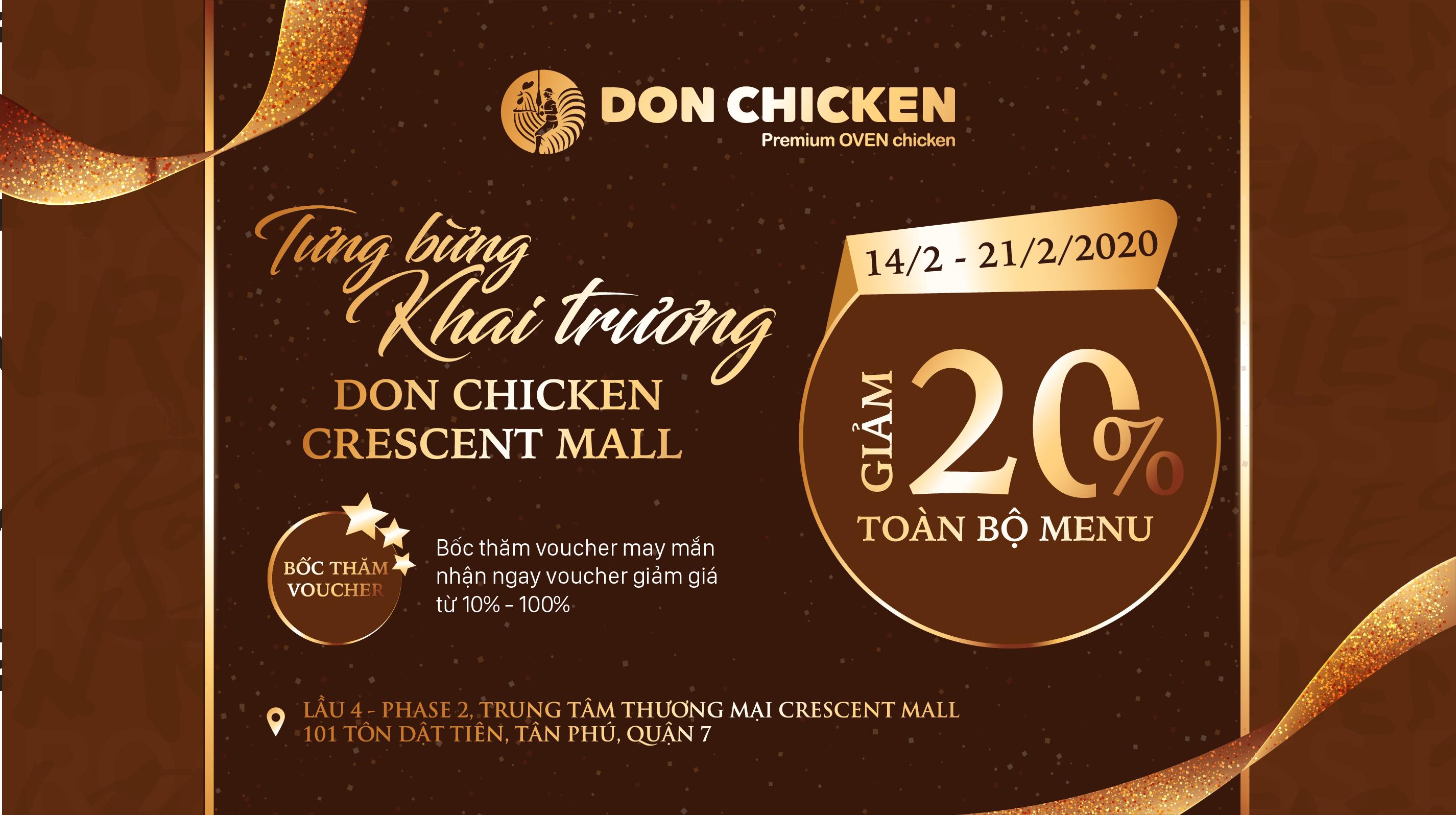 TƯNG BỪNG KHAI TRƯƠNG DON CHICKEN CRESCENT MALL