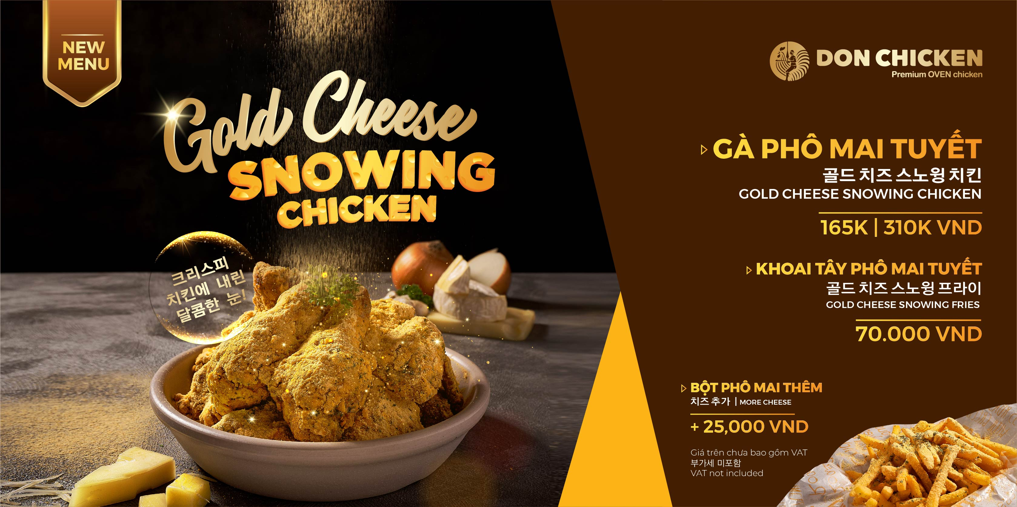 GOLD CHEESE SNOWING CHICKEN